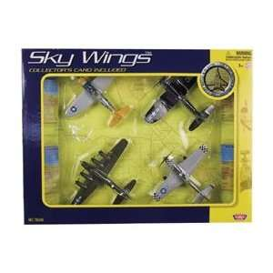 Sky Wings Classic Fighter Gift Set of 4 Aircraft Toys