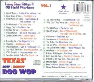Texas Best and Rarest Doo Wop CD   Vol 1 NEW/SEALED 30 Tracks