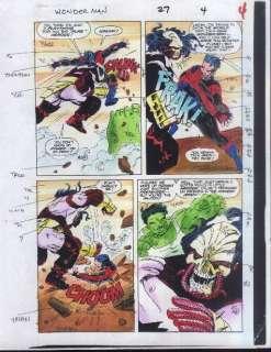 HULK/WONDER MAN 27 ORIGINAL MARVEL COMIC BOOK COLORISTS COLOR GUIDE
