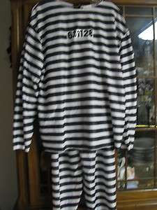 Prison convict Halloween Costume suit outfit mens ladies One size Fits