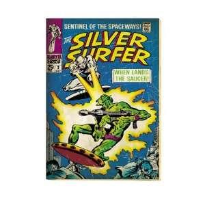Marvel Comics Retro Silver Surfer Comic Book Cover #2, Fighting, When