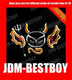 001 JDM 2nd Gen Devil Emblem 3D Car Motor Decal Sticker for UNIVERSAL