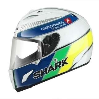 SHARK RACE R ORIGINAL MOTORCYCLE CRASH HELMET LARGE WBY WHITE BLUE