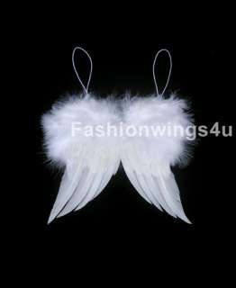 XS Feather Marabou Angel wings for preemie babies dolls home holiday