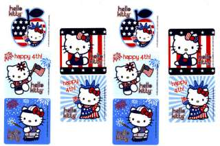 Sanrio HELLO KITTY July 4th Patriotic 10 Large Stickers