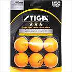Stiga Three Star Orange Table Tennis Ball (Pa