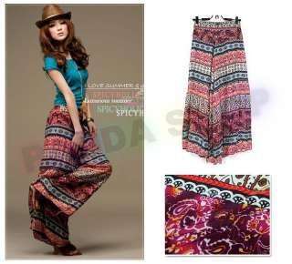 SL466 Multi Coloured Women Wide Leg Pants Slacks Palazzo Trousers