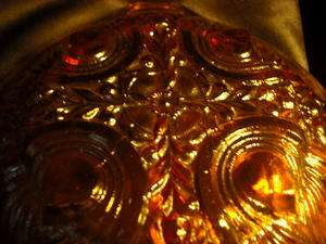 Vintage Indiana Glass Divided Relish Dishes / Bowls 1 Goldentone Amber