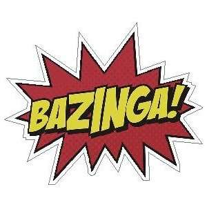 Big Bang Theory Bazinga Vinyl Decal Sticker 4 Color