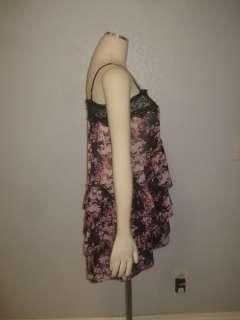 NWOT Intimately Free People Anthropologie Black Floral Feminine Sheer