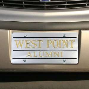 NCAA West Point Silver Mirrored Alumni License Plate