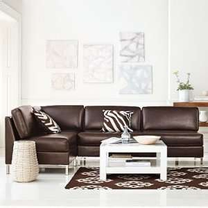 west elm Leather Armless Set 2   Sofa & Two Corners