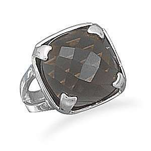 Square Faceted Smoky Quartz Ring   Size 7 West Coast Jewelry Jewelry