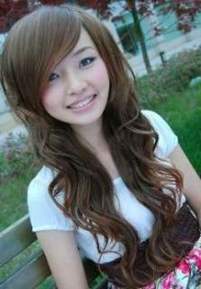 2011 NEW Korean Fashion Lady Cute Long Full Fluffy Wig Hair FP713