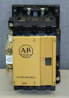 Allen Bradley A B 100 A75N*3 75 Amp Contactor 75 Amps