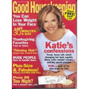 KATIE COURIC GOOD HOUSEKEEPING NOVEMBER 2004 THANKSGIVING FAVORITES