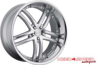 20 BMW E60 M5 CONCEPT ONE RS55 SILVER WHEELS RIMS