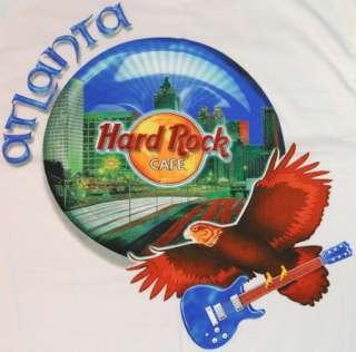Hard Rock Cafe ATLANTA White HEAVY Tee SHIRT New MEDIUM