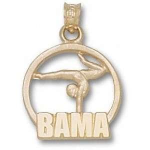 Alabama Crimson Tide Solid 10K Gold BAMA Gymnast