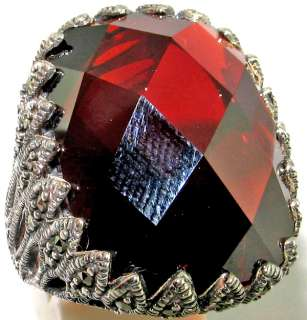 Latest collection Sensational garnet, Marcasite .925 SILVER Ring size