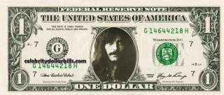 BLACK SABBATH TONY IOMMI CELEBRITY DOLLAR BILL UNCIRCULATED MINT US