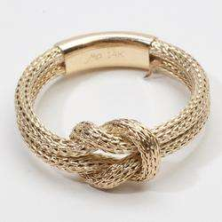 Estate Rope Infinity Knot 14k Gold Wedding Ring Band Bridal Heirloom
