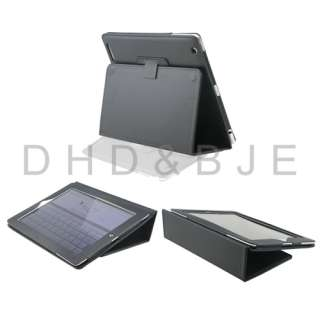 New Black PU Leather Case Cover Stand for Apple iPad 2