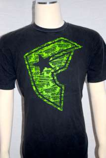 Mens Authentic FAMOUS Stars & Straps Black Lime Green Pacsun Graphic T