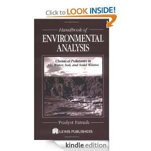 Handbook of Environmental Analysis: Chemical Pollutants in Air, Water