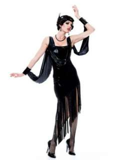 Costume Roaring 20s Costume Twenties Black Fringe Dress: Clothing