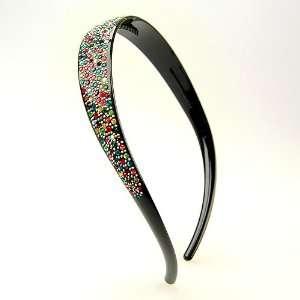 Flamenco Multi crystal Black   Avignon Collection (Made in