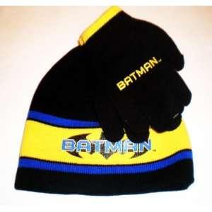 Batman Beanie and Glove Set; Officially Licensed Warner Bros Winter