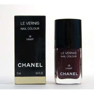 Chanel Le Vernis Nail Color Colour Polish Rouge Noir 18