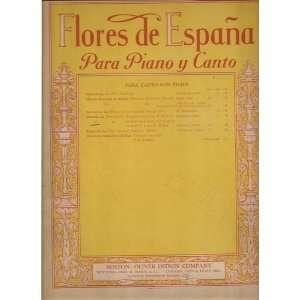 La Paloma (The Dove) Flores De Espana Para Piano y Canto