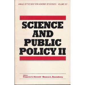 Science and Public Policy II (9780897661652) Frances S