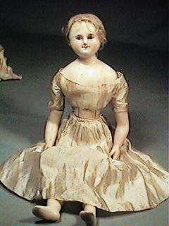 Early Wax Doll Bl Glass Eyes Wax Limbs Maurine Popp Est