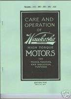 Waukesha CU DU EU FU GU Gas Engine Operation Manual High Torque Motors