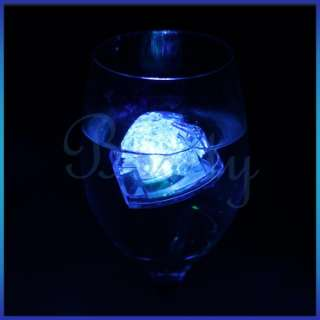 Flashing Floating LED Light Water Cube Lamp Wedding Party Decor