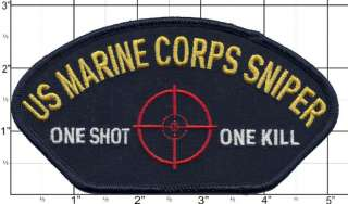 USMC US Marine Corps Sniper One Shot One Kills Patch