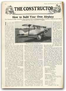 how to build an airplane engine