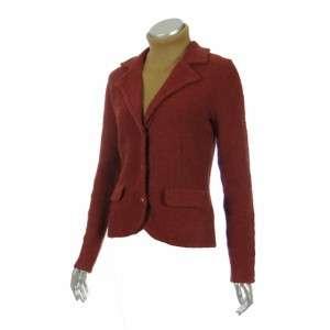 Sutton Studio Womens Red Wool Blend Sweater Blazer XL