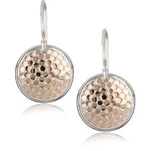 Anna Beck Designs Bali 18k Rose Gold Plated Dish Earrings