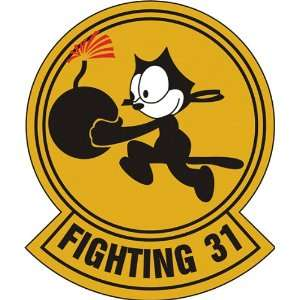 US Navy VF 31 Fighting 31 Squadron Decal Sticker 3.8 6