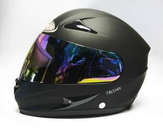VIPER RS 44 SKULL MATT BLACK MOTORCYCLE MOTORBIKE BIKE HELMET