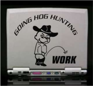 Going Hog Hunting Die Cut Vinyl Decal Sticker