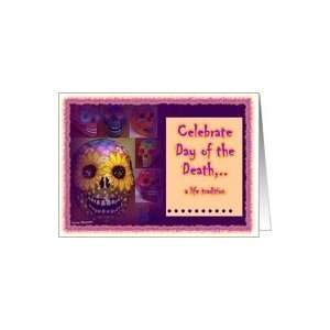 Party Invitation Catrina skeleton day of dead card Los cabos Art day