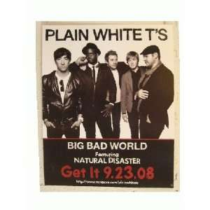 Plain White Tees Poster Big Bad World Ts The Ts