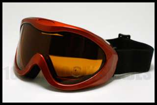 Snow Board Ski Goggles Anti Fog Double Lens RED Brown Lens Snow Sports