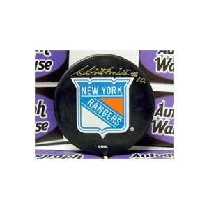 Clint Smith autographed New York Rangers Hockey Puck
