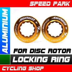 NEW COLOURED ALUMINIUM LOCKING RING For Disc Rotor Gold